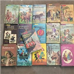 LOT OF VINTAGE COMPANION LIBRARY CHILDRENS CLASSICS BOOKS