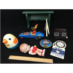 MISC LOT TOYS VIEWMASTER SHELF