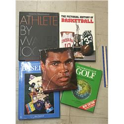 LOT OF SPORTS HARD COVER BOOKS