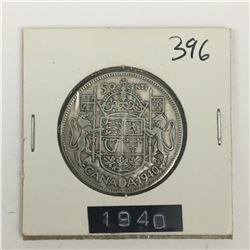 CANADA 50 CENT PIECE (1940) *SILVER*
