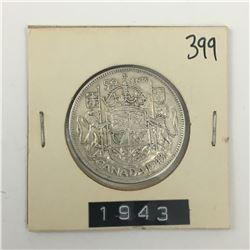 CANADA 50 CENT PIECE (1943) *SILVER*