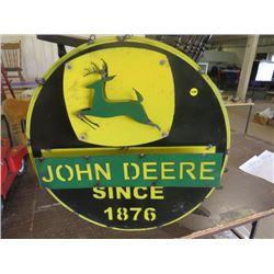 """JOHN DEERE SIGN (METAL) *22.5"""" DIAMETER*"""