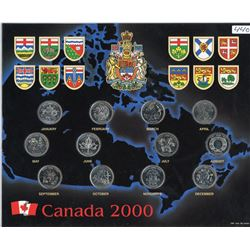 25 CENT COIN SET (CANADIAN) *UNCIRCULATED* (MILLENIUM 2000)