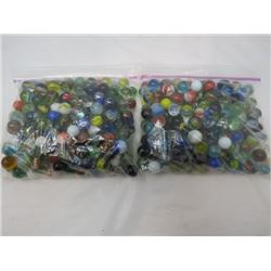 LOT OF 2 BAGS OF MARBLES