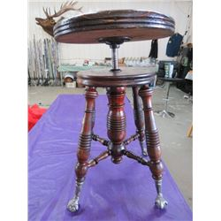 "PIANO STOOL (CLAW AND BALL FEET) *22"" X 14""*"