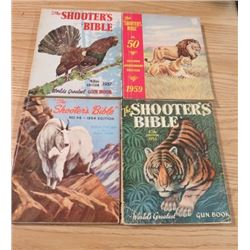 LOT OF 4 GUN CATALOGUES (SHOOTER'S BIBLE) *1954, 1956, 1957, AND 1959*