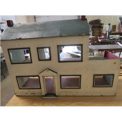 "DOLL HOUSE (FOLK ART) *HANDMADE* (35"" X 24.5"" X 11.5"")"