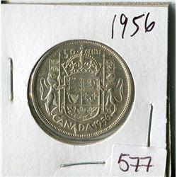 50 CENT COIN (CANADA) *1956* (SILVER)