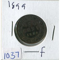 ONE CENT COIN (CANADA) *1899* (LARGE)