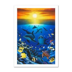 """""""Ocean Calling"""" Limited Edition Giclee on Canvas by Renowned Artist Wyland, Numbered and Hand Signed"""