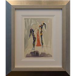 """Salvador Dali- Original Color Woodcut on B.F.K. Rives Paper """"Heaven Canto 31"""""""
