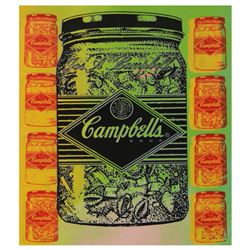 """Steve Kaufman (1960-2010), """"Campbell's Soup"""" Hand Painted Limited Edition Silkscreen on Canvas, TP N"""