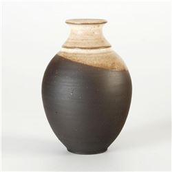 Hand Made Ceramic Vase Sculpture by Eugenijus Tamosiunas. Hand Signed.