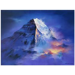 """Thomas Leung, """"Mountain Top"""" Limited Edition on Canvas, Numbered and Hand Signed with Letter of Auth"""