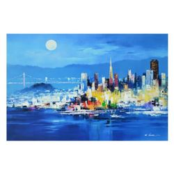 """H. Leung, """"The City Nights"""" Limited Edition on Canvas, Numbered and Hand Signed with Letter of Authe"""