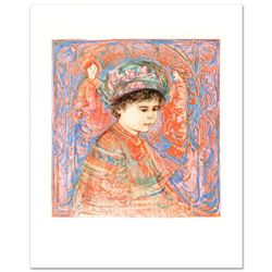 """""""Boy with Turban"""" Limited Edition Lithograph by Edna Hibel (1917-2014), Numbered and Hand Signed wit"""