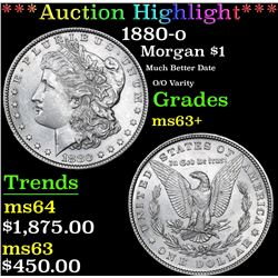 ***Auction Highlight*** 1880-o Morgan Dollar $1 Graded Select+ Unc By USCG (fc)