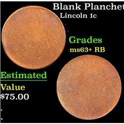 Blank Planchet Lincoln Cent 1c Grades Select+ Unc RB