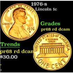 1976-s Lincoln Cent 1c Grades Gem++ Proof Red Deep cameo