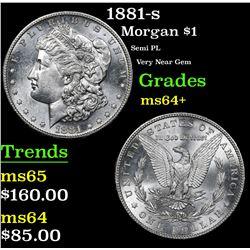 1881-s Morgan Dollar $1 Grades Choice+ Unc