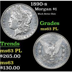 1890-s Morgan Dollar $1 Grades Select Unc PL