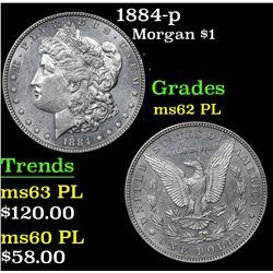 1884-p Morgan Dollar $1 Grades Select Unc PL