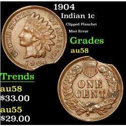 1904 Indian Cent 1c Grades Choice AU/BU Slider