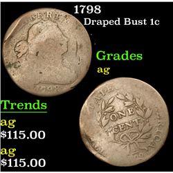 1798 Draped Bust Large Cent 1c Grades ag