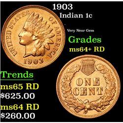 1903 Indian Cent 1c Grades Choice+ Unc RD