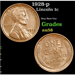 1928-p Lincoln Cent 1c Grades Choice AU/BU Slider