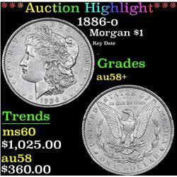 ***Auction Highlight*** 1886-o Morgan Dollar $1 Graded Choice AU/BU Slider+ By USCG (fc)