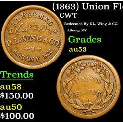 (1863) Union Flour Civil War Token 1c Grades Select AU