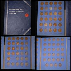 Near Complete Lincoln cent book 1941-1958 43 coins . .