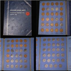 Partial Lincoln cent book 1941-1958 39 coins . .