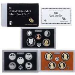 2011 United States Mint Silver Proof Set - 14 pc set, about 1 1/2 ounces of pure silver . .