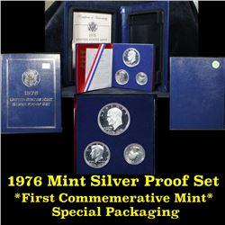 1776-1976 Bicentennial Silver 3 piece Proof set . .