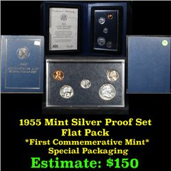 1955 United States Mint Silver Proof Set Flat Pack . .