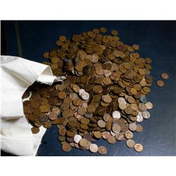 ***Auction Highlight*** UNSEARCHED 5000 pc Bag of Lincoln Wheat Cents Average Circulated  . . (fc)