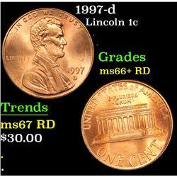1997-d Lincoln Cent 1c Grades GEM++ RD
