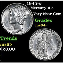 1945-s Mercury Dime 10c Grades Choice+ Unc