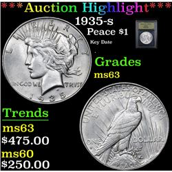 ***Auction Highlight*** 1935-s Peace Dollar $1 Graded Select Unc By USCG (fc)