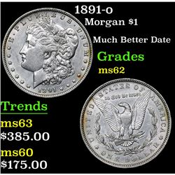 1891-o Morgan Dollar $1 Grades Select Unc