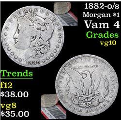 1882-o/s Morgan Dollar $1 Grades vg+