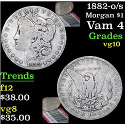 1882-o/s Morgan Dollar $1 Grades vg+