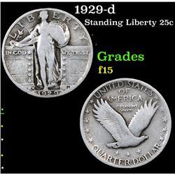 1929-d Standing Liberty Quarter 25c Grades f+