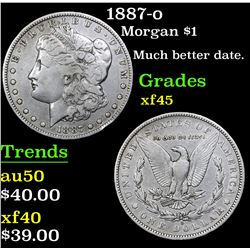 1887-o Morgan Dollar $1 Grades xf+