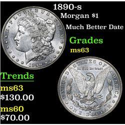 1890-s Morgan Dollar $1 Grades Select Unc