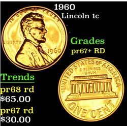 1960 Lincoln Cent 1c Grades Gem+ Proof