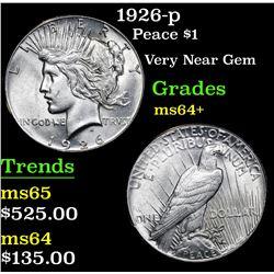 1926-p Peace Dollar $1 Grades Choice+ Unc