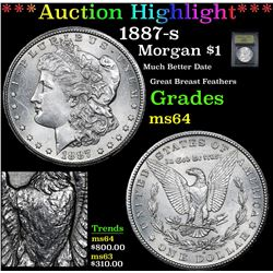 ***Auction Highlight*** 1887-s Morgan Dollar $1 Graded Choice Unc By USCG (fc)